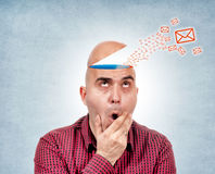 Head message Royalty Free Stock Photos