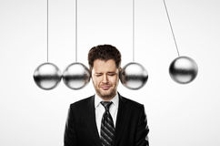 Head metal pendulum Stock Photography