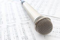 Head mikrofon Fotografering för Bildbyråer