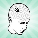 Head And Mind Puzzle Stock Images