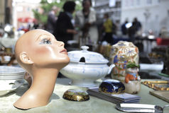 Head model in flea market Stock Photos
