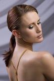 head model red för mode Royaltyfri Fotografi