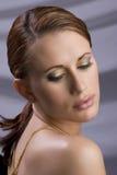 head model red för mode Royaltyfri Bild