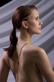 head model red för mode Royaltyfria Bilder