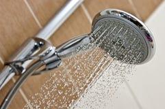 head modern dusch för krom Arkivbilder