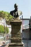 Head monument in stone #2. Salsomaggiore Stock Photo