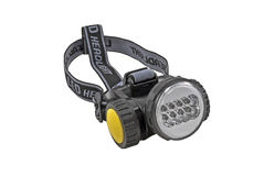 Head-mounted flashlight Stock Image