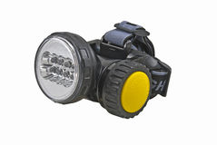 Head-mounted flashlight Stock Images