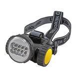 Head-mounted flashlight. The small head-mounted flashlight on white background Stock Photos