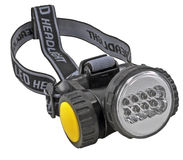 Head-mounted flashlight Royalty Free Stock Photo