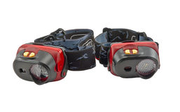 Head-mounted flashlights Royalty Free Stock Photo