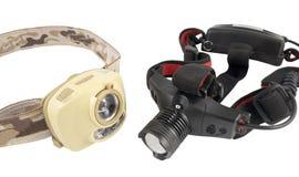 Head-mounted flashlights Royalty Free Stock Photos