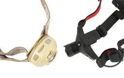 Head-mounted flashlights Stock Photography