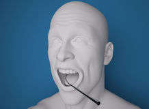 Head, mouth open, dentist Preparation tool Royalty Free Stock Photography
