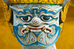 Head of mythical figure at Wat Phra Kaeo Royalty Free Stock Photo