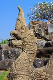 Head of Naga statue Stock Photo