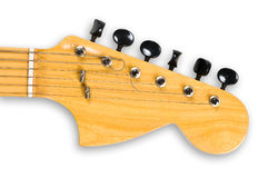 Head and neck of an electric guitar. Stock Photo