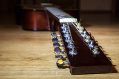 Head neck 12 string guitar Stock Images