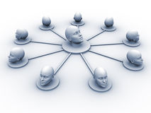 Head network Royalty Free Stock Image