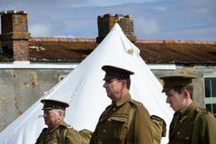 Head och skuldror av krig för värld tre ett tjäna som soldat Arkivfoto