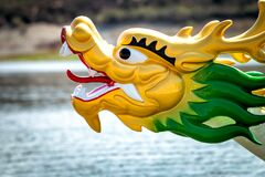 Free Head Of A Dragon On The Bow Of A Dragon Boat Royalty Free Stock Image - 178563876