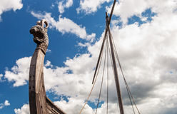 Free Head Of A Dragon On The Front Of The Viking Ship Drakkar Stock Photo - 99222090