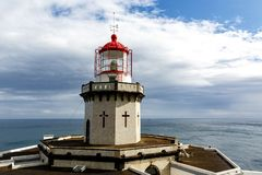 Head of old lighthouse royalty free stock image