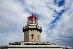 Head of old lighthouse royalty free stock photography