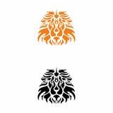 Head orange Lion logo stock photos