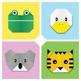 head origami för 3 djur Royaltyfri Fotografi