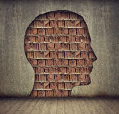Head outline wall Royalty Free Stock Photos