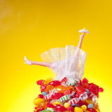 Head Over Heal in Candy and Love Stock Photos