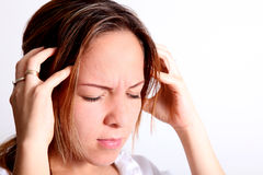 Head pain Stock Photo