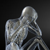 Head Pain X-ray concept Stock Image