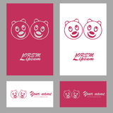 Head panda symbol logo Royalty Free Stock Photos