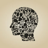 Head of a part of a body Royalty Free Stock Photography