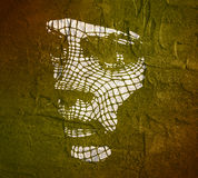 Head of the Person from a 3d Grid. Royalty Free Stock Image
