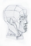 Head of the person .Drawing studio works Stock Image