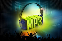 Head phone with mp3 Royalty Free Stock Photography