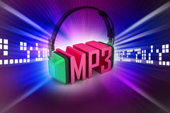 Head phone with mp3 Stock Images