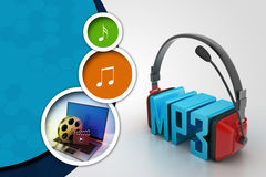 Head phone with mp3 Royalty Free Stock Photo