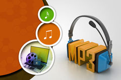 Head phone with mp3 Royalty Free Stock Photos