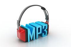 Head phone with mp3 Royalty Free Stock Image