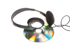 Head phones and cd Stock Images