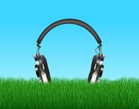 Head Phones In Grass Stock Photos