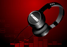 Head phones. Vector illustration of some headphones on an abstract background Royalty Free Stock Photography