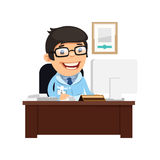 Head Physician at His Desk Stock Image