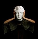 Head of plaster Royalty Free Stock Image