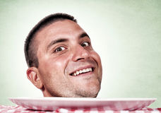 Head on plate Royalty Free Stock Photography