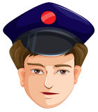 A head of a police agent Royalty Free Stock Photos